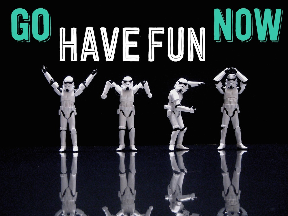 go have fun now stormtrooper (c) JD Hancock + CG www.hejyou.be