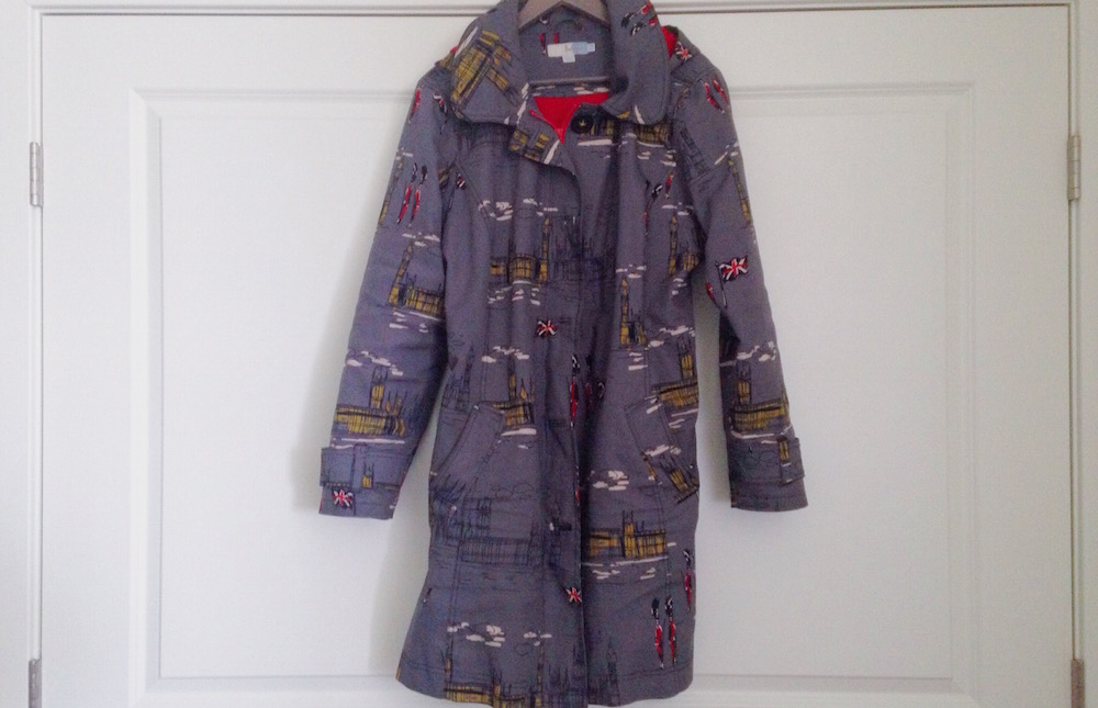 boden london pattern rainy mac coat